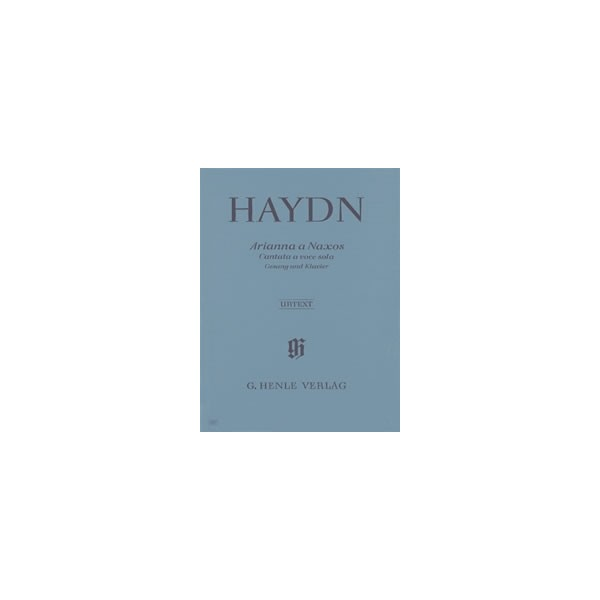 Haydn, Joseph - Arianna a Naxos, Cantata a voce sola  for Voice and Piano  Hob. XXVIb:2