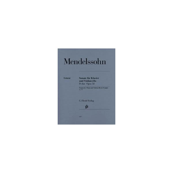 Mendelssohn Bartholdy, Felix - Sonata for Piano and Violoncello D major op. 58
