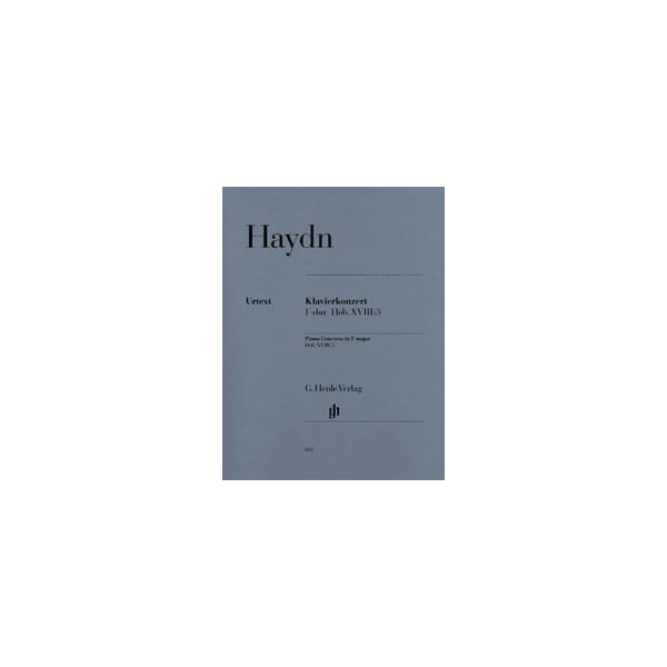Haydn, Joseph - Concerto for Piano (Harpsichord) and Orchestra F major  Hob. XVIII:3