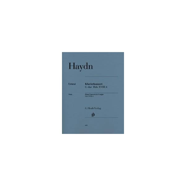 Haydn, Joseph - Concerto for Piano (Harpsichord) and Orchestra G major  Hob. XVIII:4