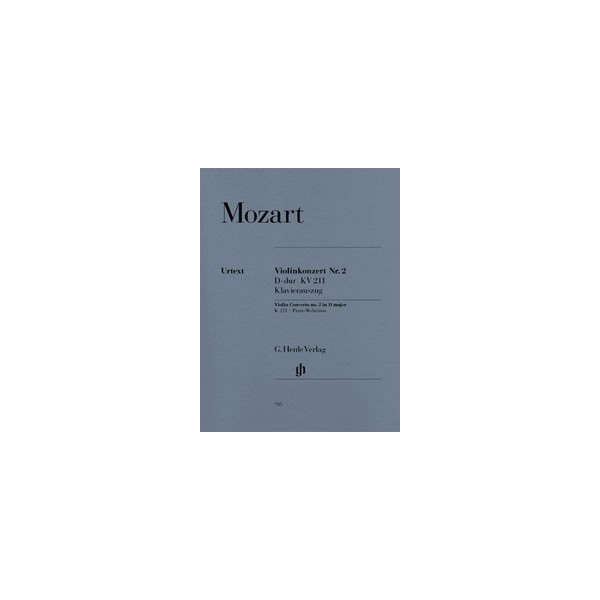 Mozart, Wolfgang Amadeus - Violin Concerto no. 2 D major  KV 211