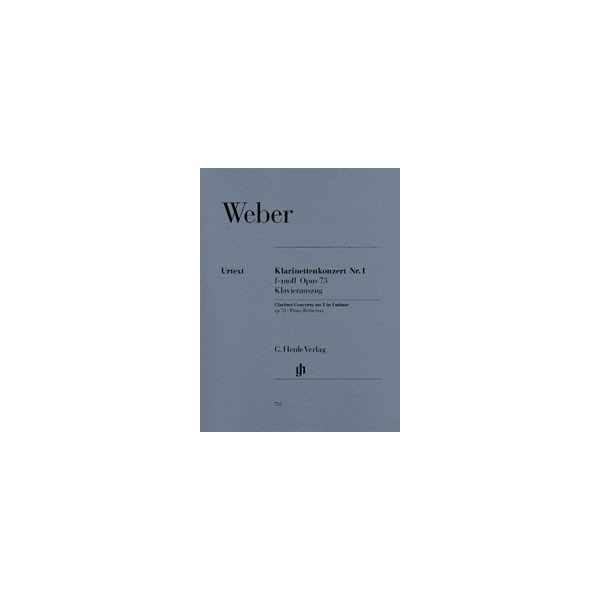 Weber, Carl Maria von - Clarinet Concerto No. 1 f minor op. 73/1
