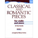 Classical and Romantic Pieces for Violin Book 3 - Forbes, Watson