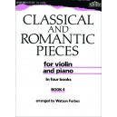 Classical and Romantic Pieces for Violin Book 4 - Forbes, Watson
