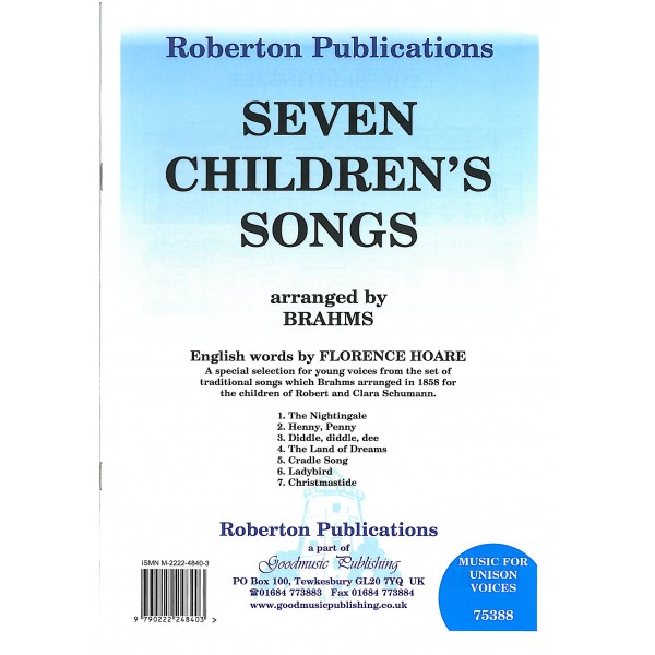 Brahms, Johannes - Seven Children's Songs