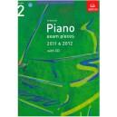 ABRSM Piano Exam Pieces 2011-2012 Grade 2 Book with CD