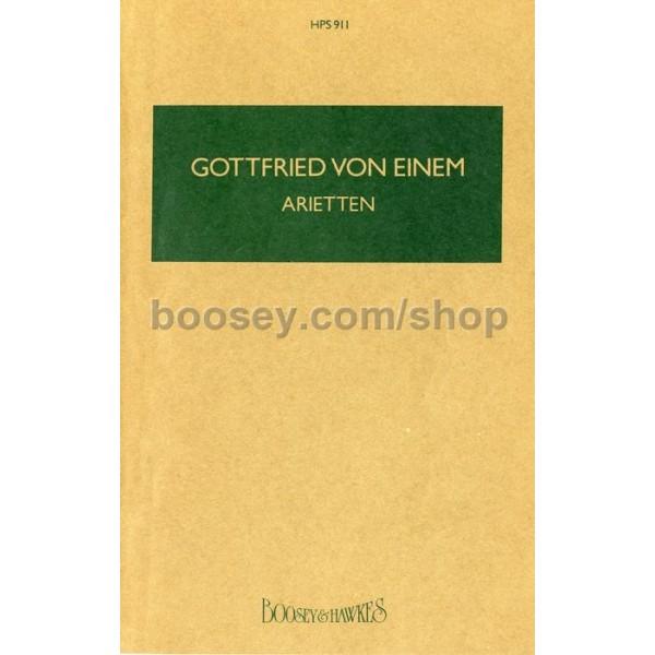 Einem, Gottfried von - Arietten op. 50