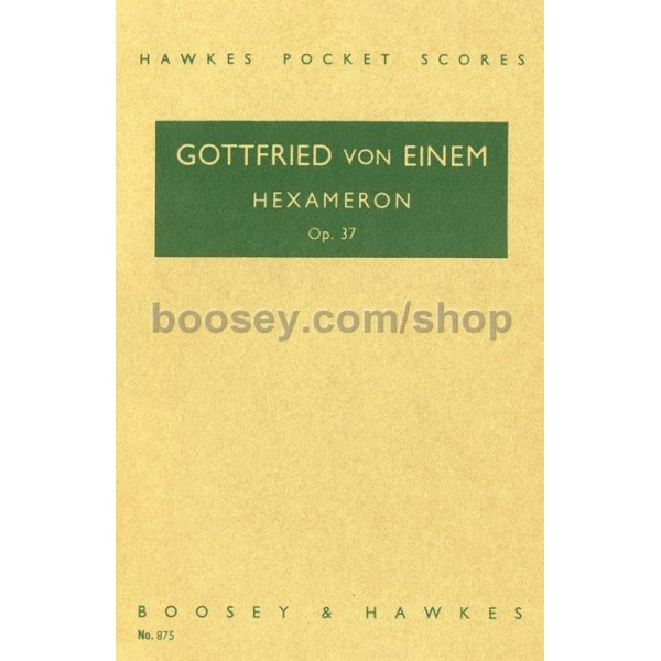 Einem, Gottfried von - Hexameron op. 37