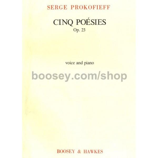 Prokofieff, Serge - 5 Poesies op. 23