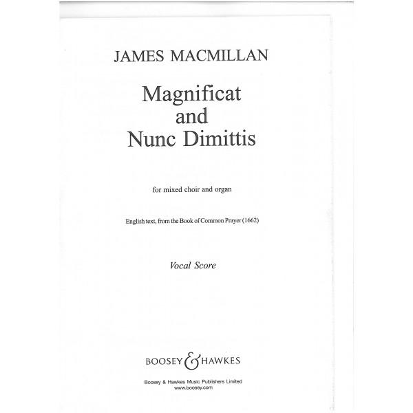MacMillan, James - Magnificat and Nunc Dimittis