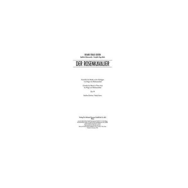 Strauss, Richard - Der Rosenkavalier op. 59