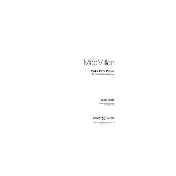 MacMillan, James - Padre Pios Prayer