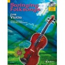 Swinging Folksongs for Violin - plus CD: Full performances and Play-Along-Tracks - Piano part to print
