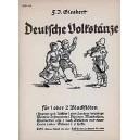 Deutsche Volkstänze   Band 2 - Eine Sammlung der schönsten Volkstänze und Reigenlieder