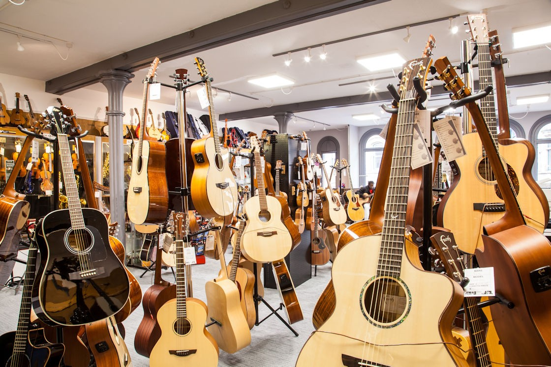 Acoustic Guitars at Forsyths Music Shop Manchester
