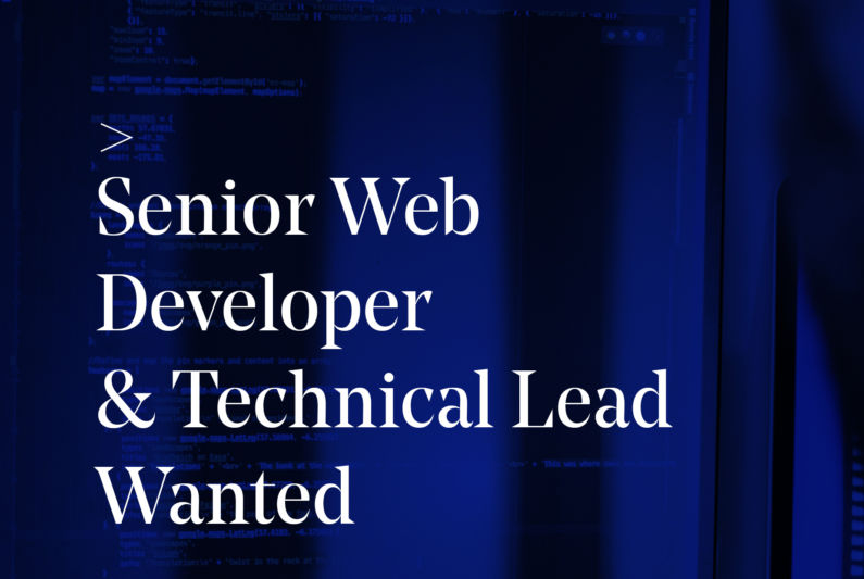 Senior Web Tech Lead Wanted