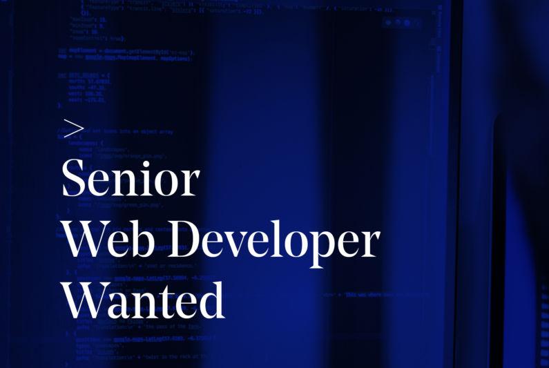 Senior Web Wanted