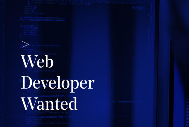 Web Developer Wanted