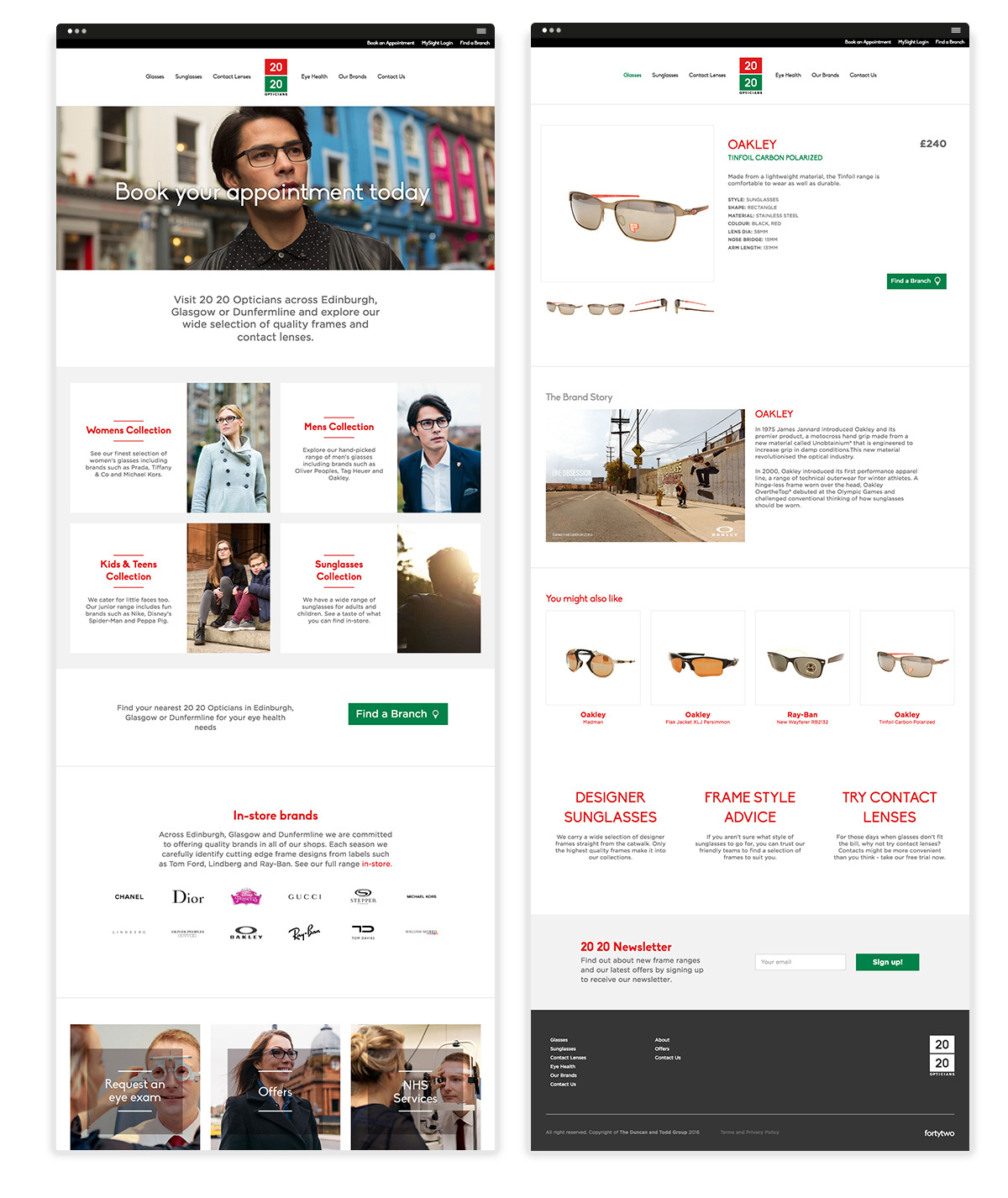 2020 Opticians Fortytwostudio Weblayouts