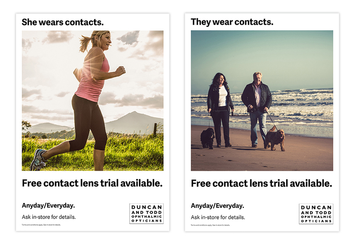 Duncan And Todd Contact Lens Ads Mult