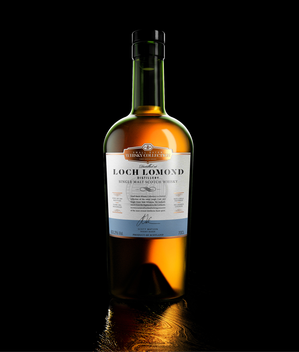 Lochlomond Straight Bottle Filled With Top