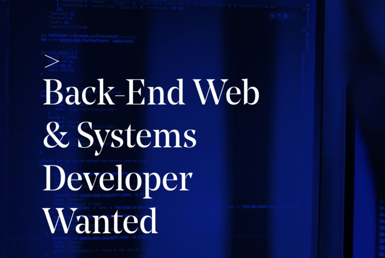 Back Web Systems Dev Wanted