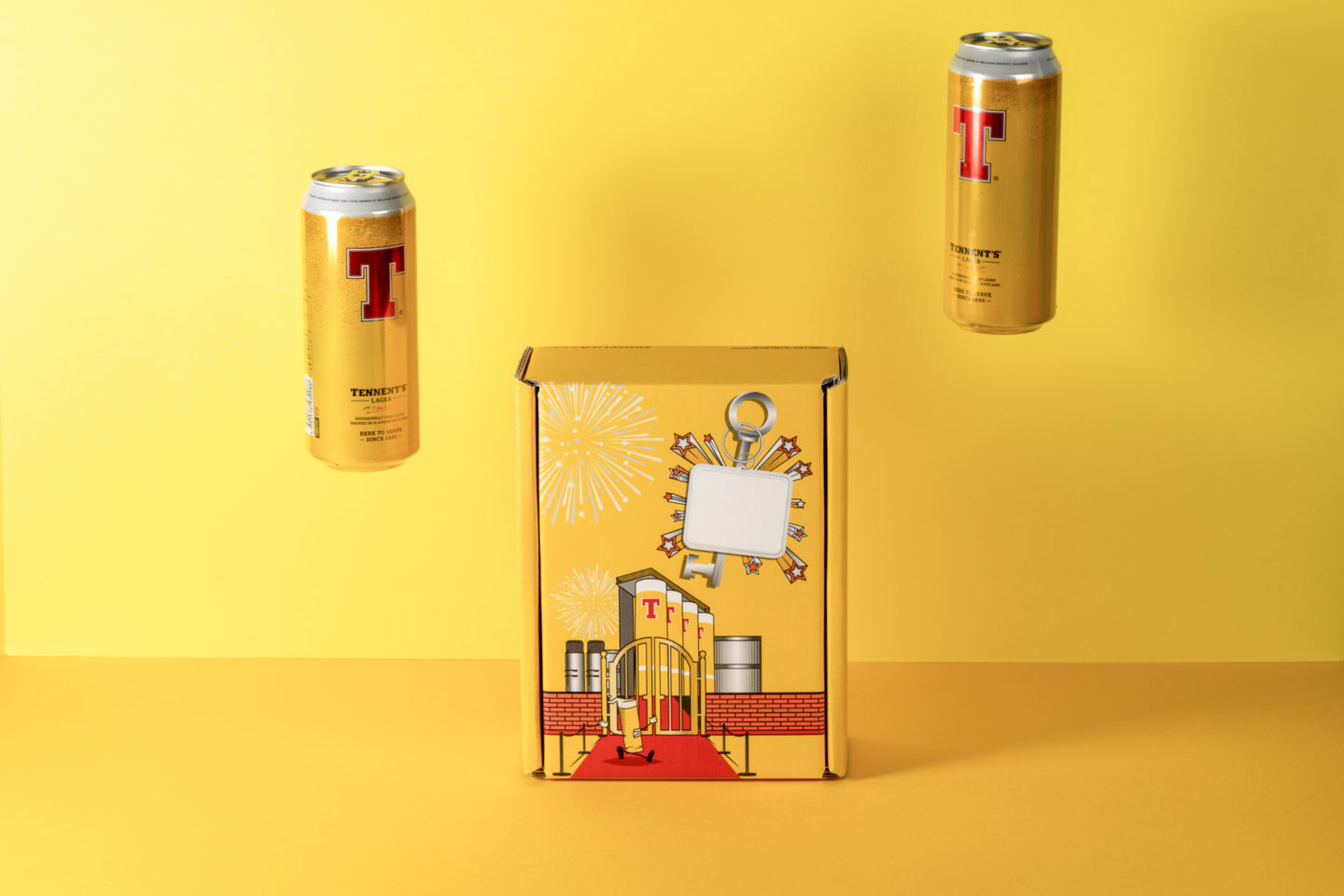 Denmore Press Case Study Tennents Golden Ticket Party Box 235