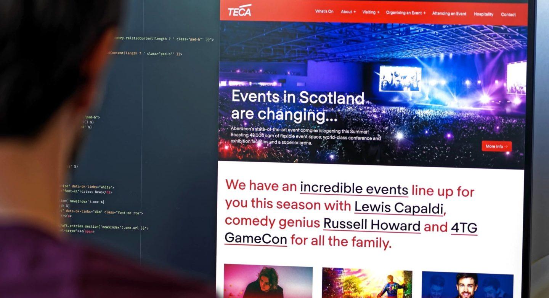 Teca website in development 2