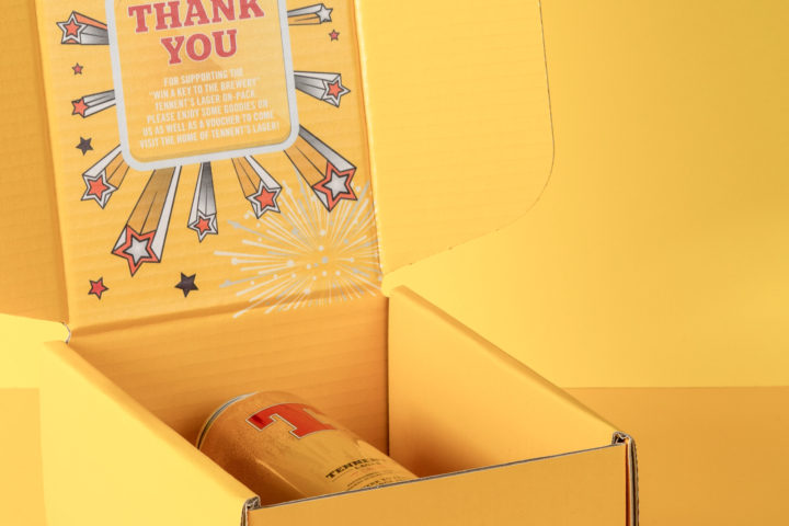 Denmore Press Case Study Tennents Golden Ticket Party Box 244