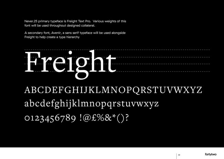 Never25 Brand Guidelines Freight