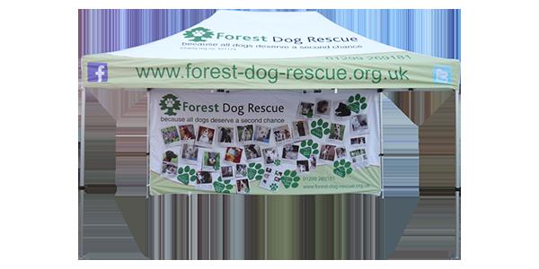 Forest Dog Rescue Pop up Gazebo