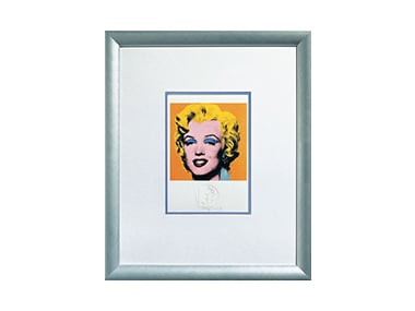 Andy Warhol Bild 'Shot Orange Marilyn', 1967, gerahmt