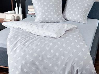 geschenkidee bettw sche 39 sterne 39 auf. Black Bedroom Furniture Sets. Home Design Ideas