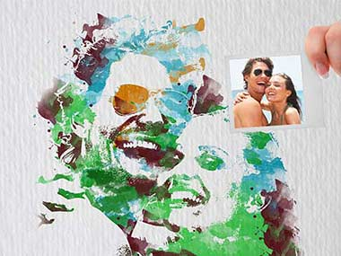 Individuelles Pop-Art-Portrait im Brush-Color-Stil deines Wunschmotivs