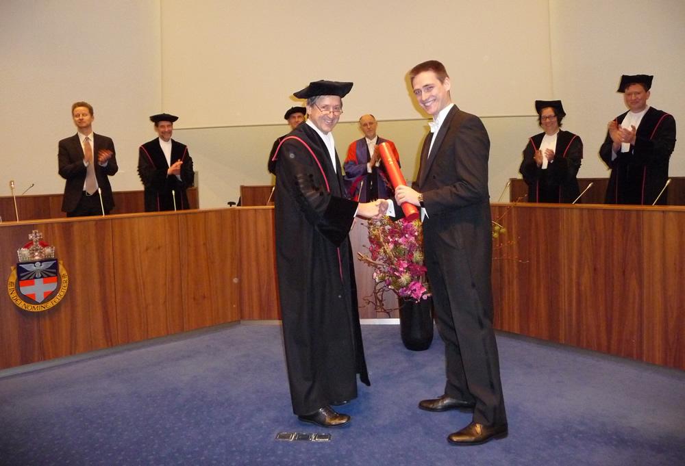 Prof David C Lane as external Examiner at Viva in Nijmegen
