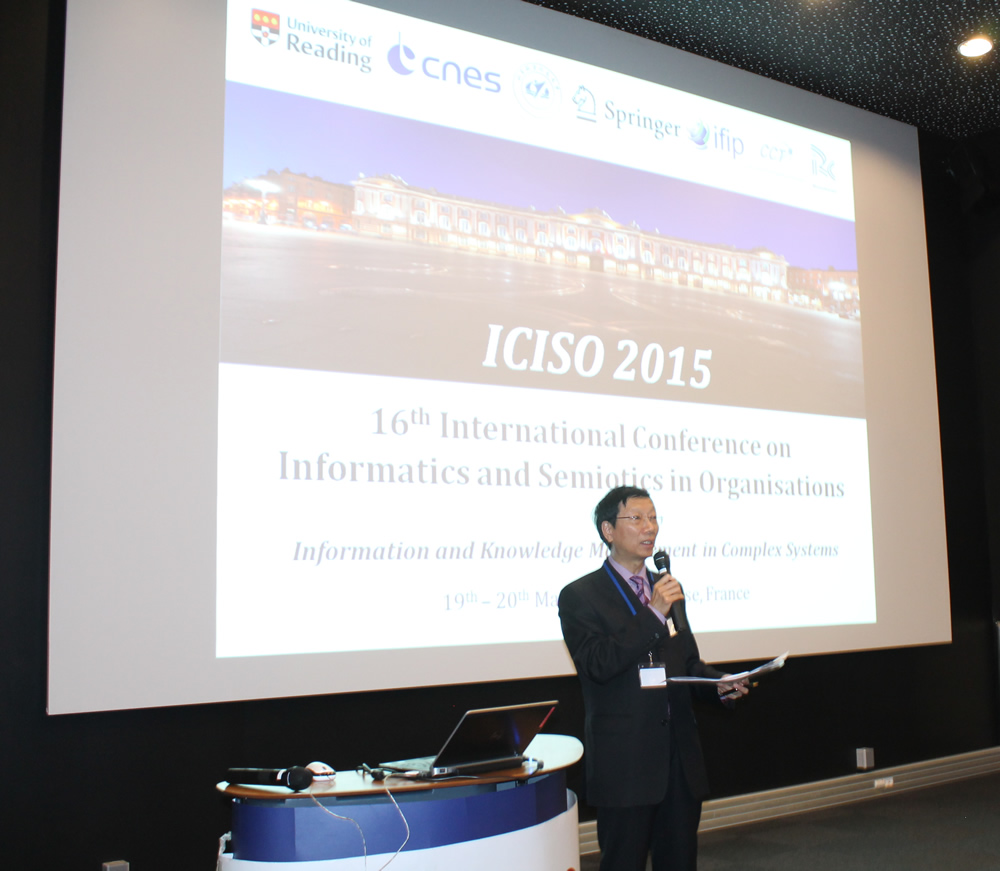 Conference Chair, Professor Kecheng Liu, opening the conference