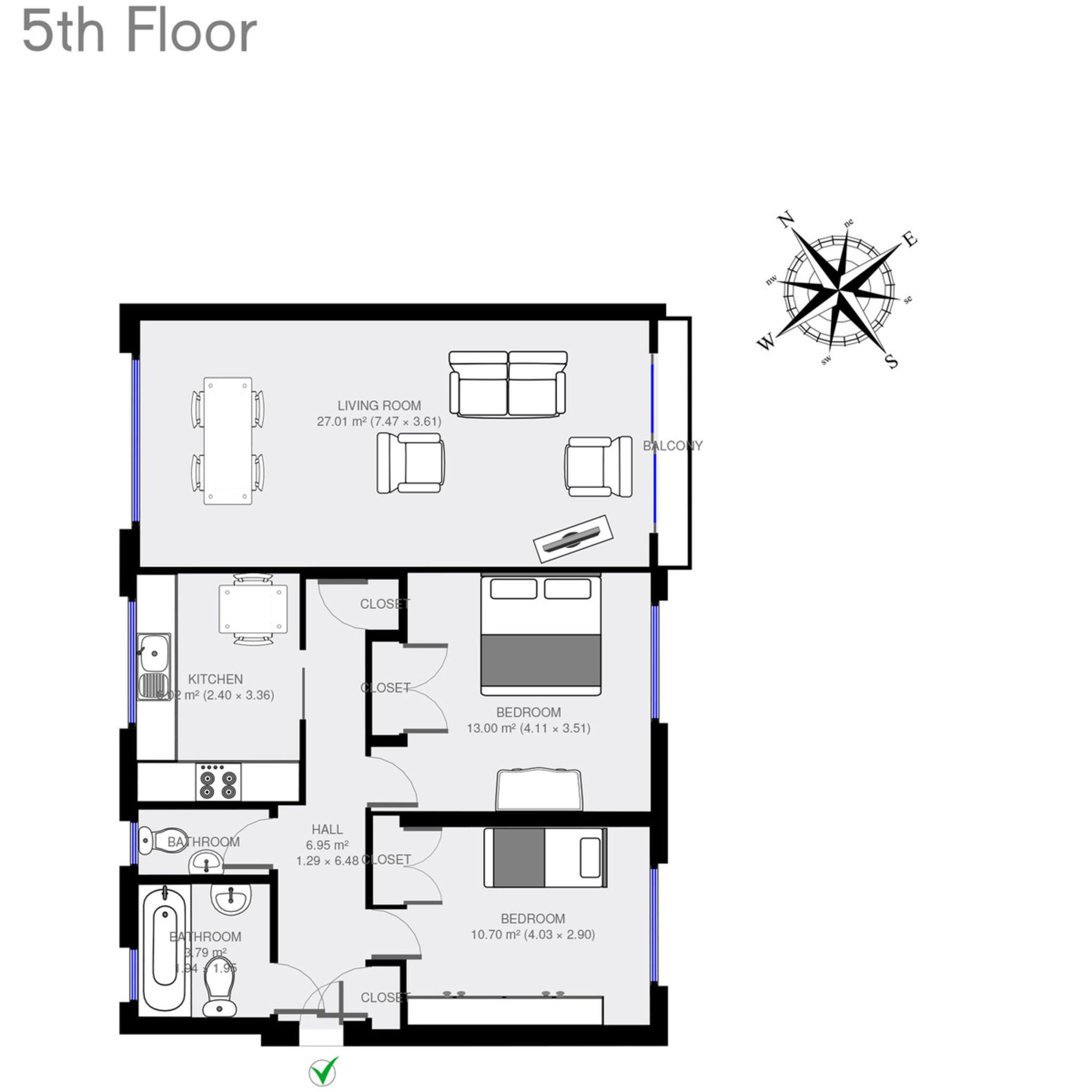Park Close 19, Kensington, 3xBed London Apartment