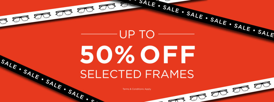It's the Red Spec Sale at JM MacDonald - get up to 50% off on selected frames this winter