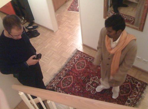 Sri Kaleshwar & Tobias bei einer Vaastu Beratung in Deutschland