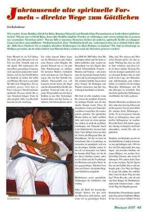 Artikel erschienen in WENDEZEIT, 05/2007