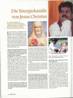 Die Energiekanäle von Jesus Christus, Artikel in VISIONEN - DOWNLOAD