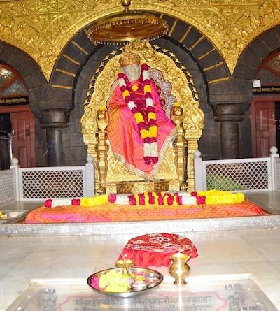 Shirdi Sai Baba Murti und Samadhi in Shirdi, Indien