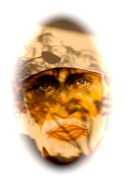 Shirdi Sai Baba - painting by Andy Bittmann, student of Sri Kaleshwar