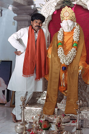 Sri Kaleshwar and Babas Murti in Penukonda, India