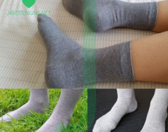 Gráir Silfur trefja sokkar – 1 stk
