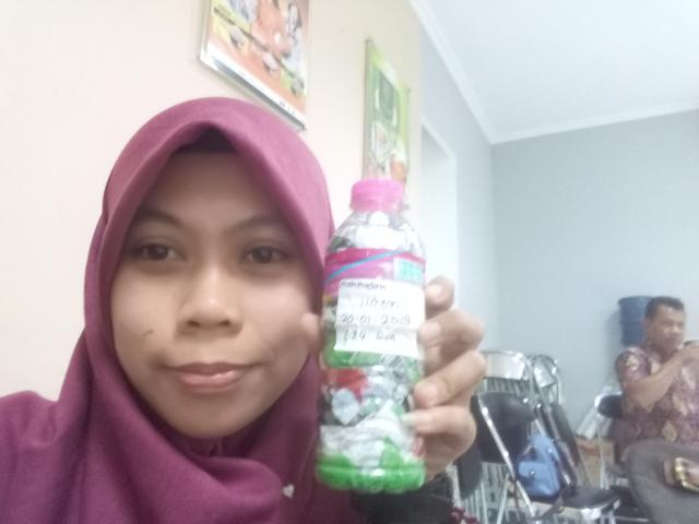 Mahmudah Maeda just packed 110g of plastic out of the  Semarang, Indonesia biosphere!