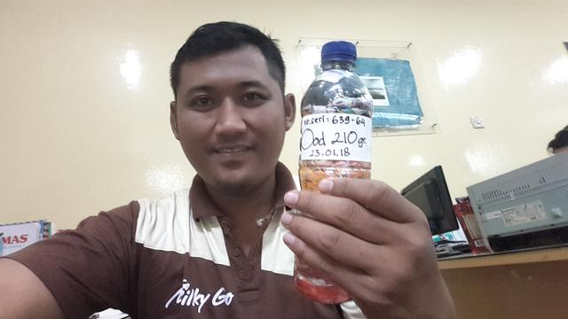Lantip Waspodo just packed 210g of plastic out of the  Semarang, Indonesia biosphere!
