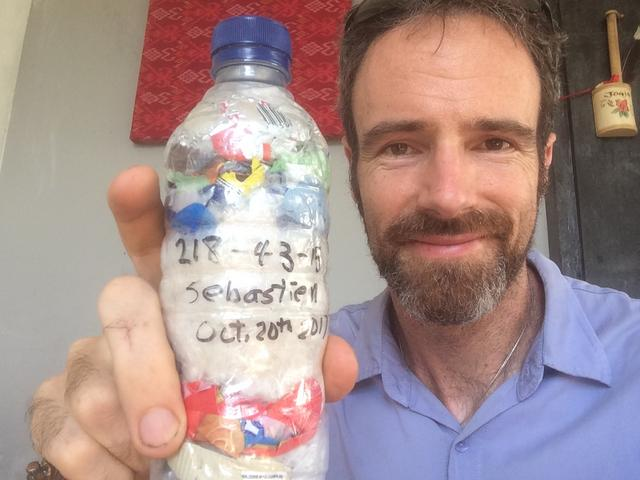 Russell Maier just packed 234g of plastic out of the  Ubud, Indonesia biosphere!