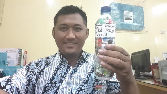 Ood Lantip just packed 300g of plastic out of the  Semarang, Indonesia biosphere!