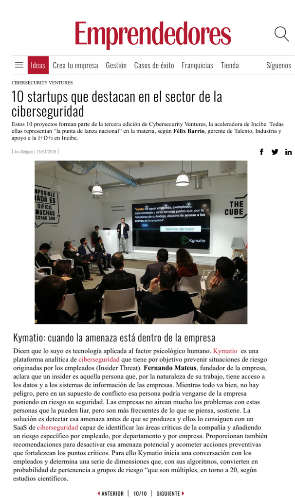 Entrepreneurs Magazine: 10 startups that stand out in the cybersecurity sector 2
